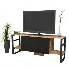 Metal Görünümlü Tv Ünitesi Tv Sehpası 2 Kapaklı %100 MDF